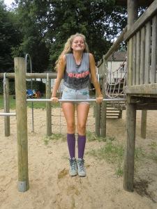 Spielplatz im Nirgendwo im Hiking-Outfit ;)