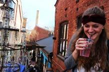 Flohmarkt und Gratis-Getränk in Grünerlokka. Foto: Miriam Mathein